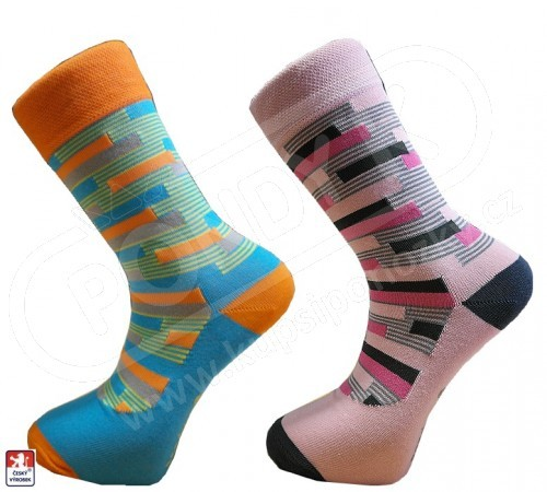 6b714ca98d7 CENOVÁ AKCE Pánské luxusní designové ponožky PONDY.CZ COLOR RASTR 39-47