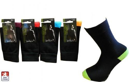 cce7a13db71 Ponožky pánské barevné špice a paty