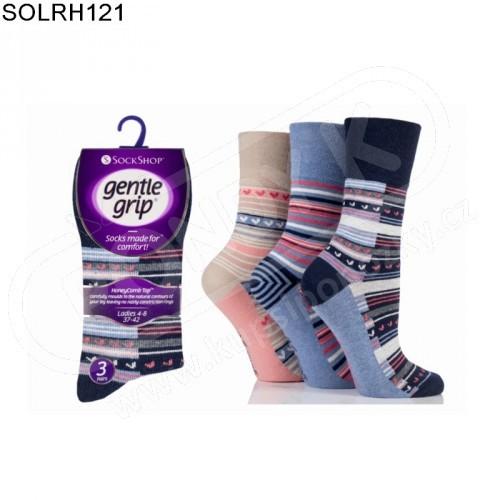 cb5ef8fdc69 Ponožky dámské GENTLE GRIP s volným nesvíravým lemem