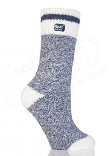 HEAT HOLDERS ponožky FASHION TWIST modré termo dámské melír 46314da184